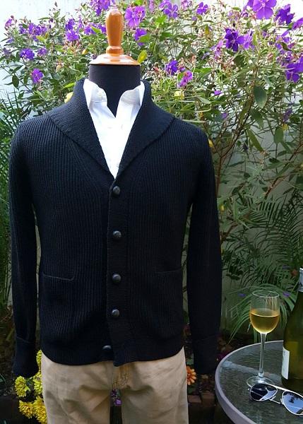 affordable alternatives Quantum of Solace Black Shawl Collar Cardigan