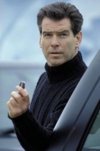 Pierce Brosnan James Bond Black Turtleneck Sweater