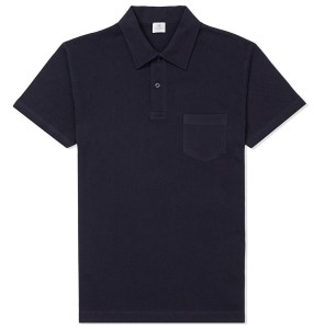 affordable Bond wardrobe Sunspel Riviera Polo Navy