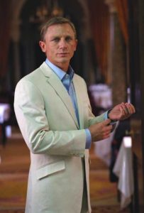 affordable alternative James Bond Cream Linen Suit