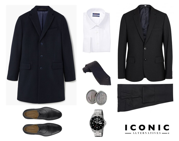 4 ways to wear the james bond navy overcoat