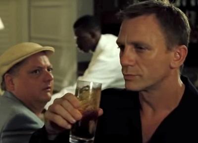 Daniel Craig James Bond Casino Royale Rum and Soda