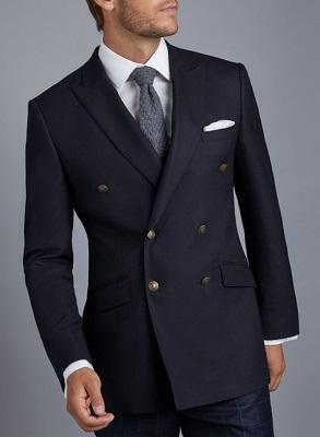 budget double breasted James Bond navy blazer