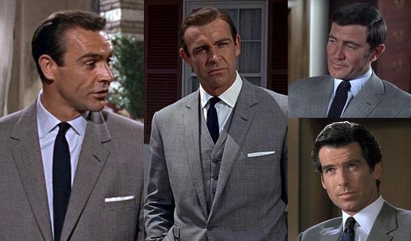 James Bond glen check suit variations