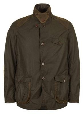 James Bond Barbour Beacon waxed sport coat