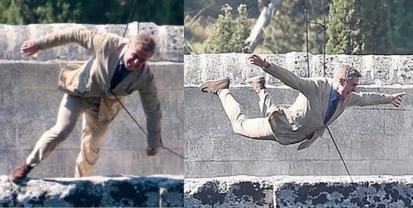 James Bond No Time to Die Bridge Stunt Italy