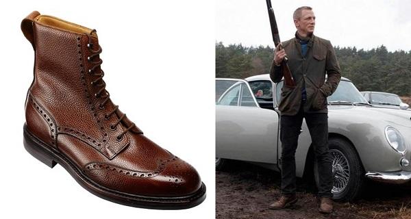 James Bond Skyfall Crockett & Jones Islay Wing Tip Boots