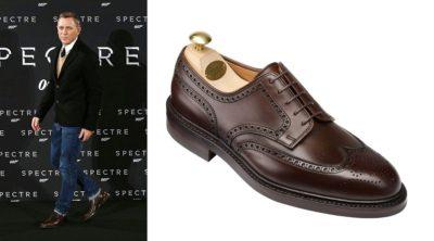 Daniel Craig wingtip derby shoe