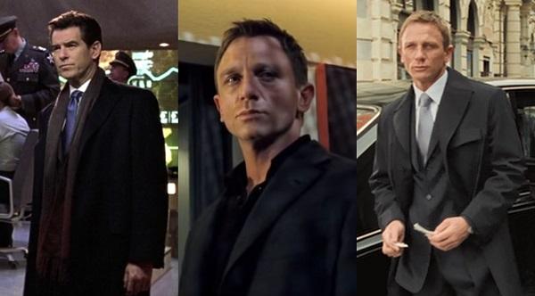 James Bond navy overcoat