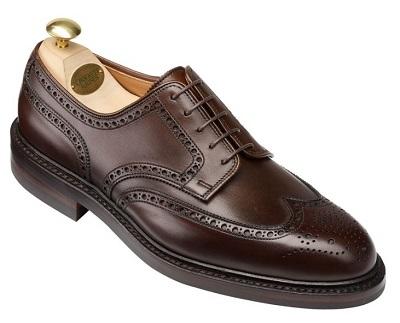 Crockett & Jones Pembroke derby dark brown waxed calf