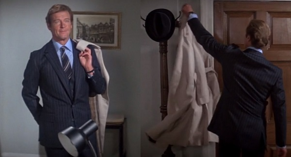 affordable Bond wardrobe trench coat Roger Moore