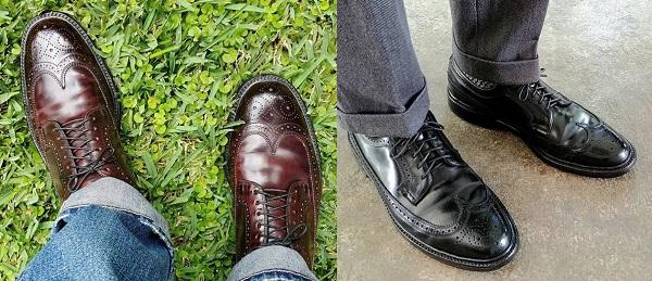 vintage shell cordavan shoes