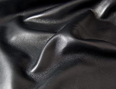 Black Lambskin Leather