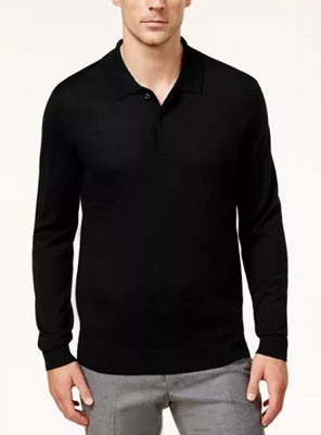 affordable alternative James Bond black polo sweater