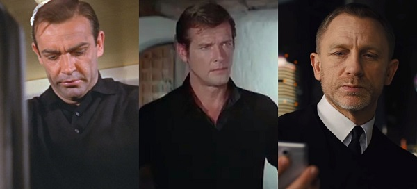James Bond black v neck sweater