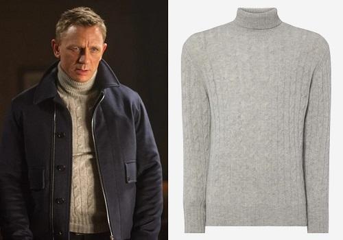 James Bond Skyfall N.Peal Roll Neck Sweater