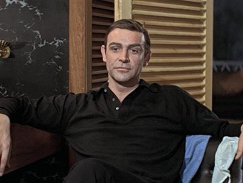 Sean Connery James Bond Thunderball black polo sweater