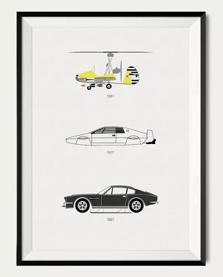 5 Things I Want October James Bond Cars Poster